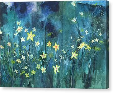 Wa Canvas Print - Flowers N Breeze by Anil Nene