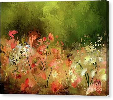 Canvas Print featuring the photograph Flowers Of Corfu by Lois Bryan
