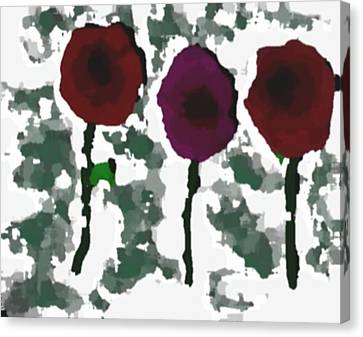 Canvas Print featuring the digital art Flowers Of Love by Dr Loifer Vladimir