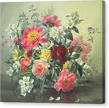 Flowers Of Romantic June Canvas Print by Albert Williams