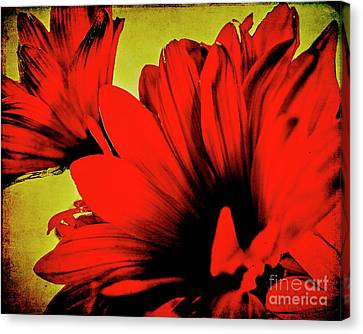 Flowers On Rice Paper Canvas Print
