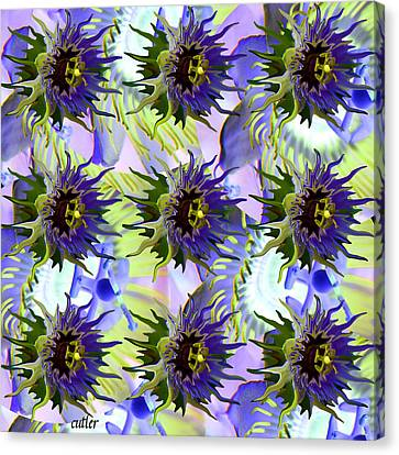 Flowers On The Wall Canvas Print by Betsy C Knapp