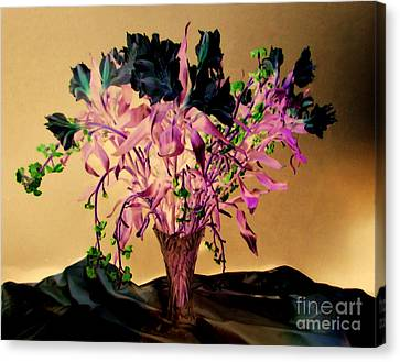 Flowers Over Mounts Canvas Print by Rick Maxwell