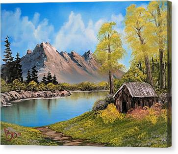 Bob Ross Canvas Print - Flowers Overgrown by Paul Boyenga