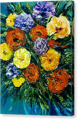 Flowers Painting #191 Canvas Print by Donald k Hall