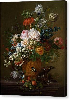 Flowers Still Life Canvas Print by Willem van Leen