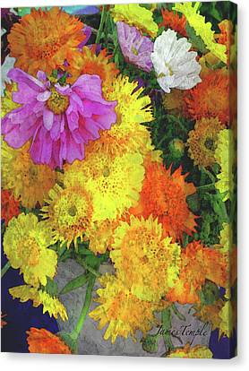 Canvas Print - Flowers That Smile Digital Watercolor by James Temple