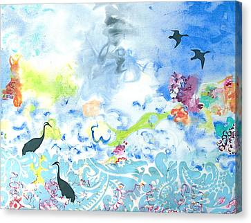 Flowers To Yemanja The Goddess Of The Ocean Canvas Print
