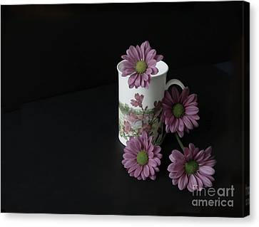 Flowery Teacup Canvas Print