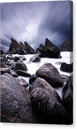 Canvas Print featuring the photograph Flowing by Jorge Maia