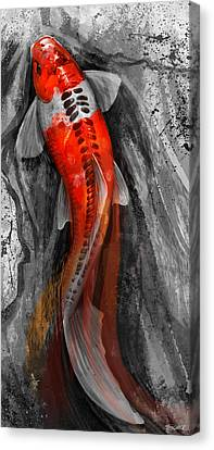 Flowing Koi Canvas Print by Steve Goad