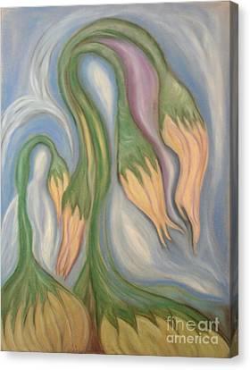 Flowing Onions Canvas Print by Michelle  Thomann-Ramirez