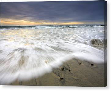 Flowing Stones Canvas Print by Mike  Dawson