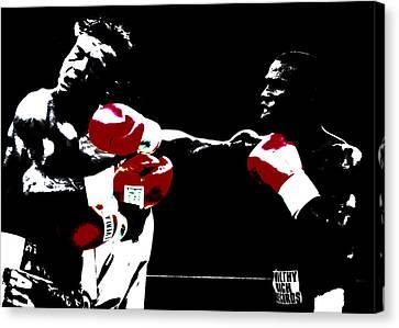 Floyd Mayweather And Arturo Thunder Gatti 2 Canvas Print