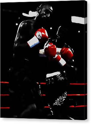 Floyd Mayweather And Diego Chico Corrales Canvas Print