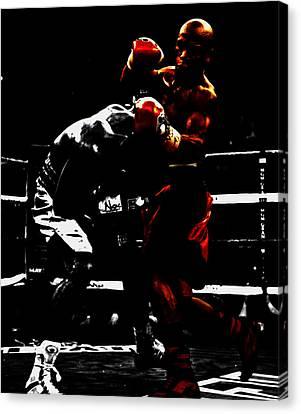 Floyd Mayweather Beat Down Canvas Print
