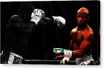 Floyd Mayweather Ducking And Dodging Canvas Print