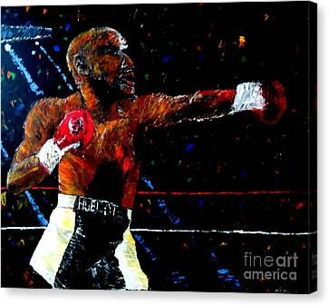 Floyd Mayweather Jr  Canvas Print by Mark Moore