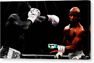 Floyd Mayweather Making Them Miss Canvas Print by Brian Reaves