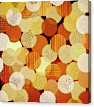 Shades Of Red Canvas Print - Fluffy Dots by Frank Tschakert