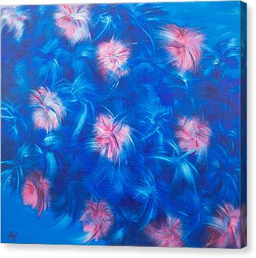 Stretched Cotton Canvas Print - Fluffy Flowers by Mariia Malygina
