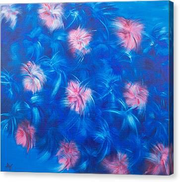 Fluffy Flowers Canvas Print by Mariia Malygina