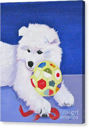 Fluffy's Portrait Canvas Print by Phyllis Kaltenbach