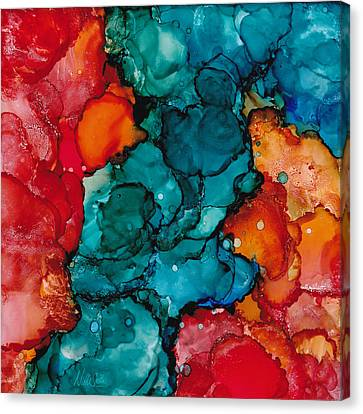 Fluid Depths Alcohol Ink Abstract Canvas Print