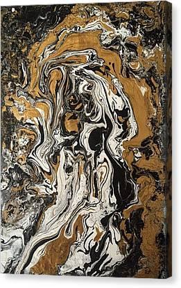 Fluid Gold Canvas Print
