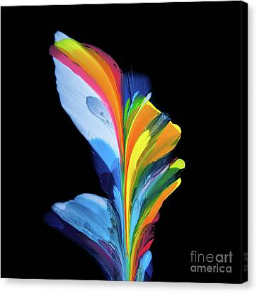 Fluidity Black #4 Canvas Print