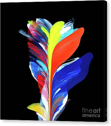 Fluidity Black #5 Canvas Print