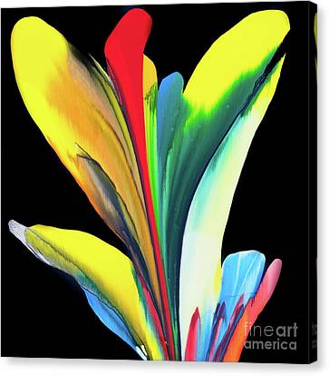 Fluidity Black #7 Canvas Print