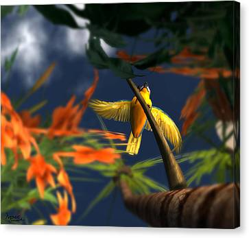 Flutter Canvas Print by Monroe Snook