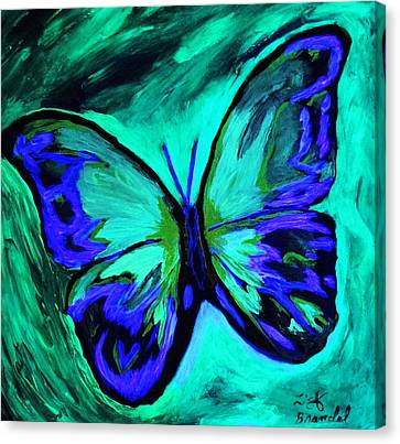 Flutterby Brings The Light Through Dark Canvas Print