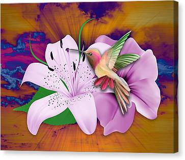 Hummingbird Canvas Print - Fluttering by Marvin Blaine