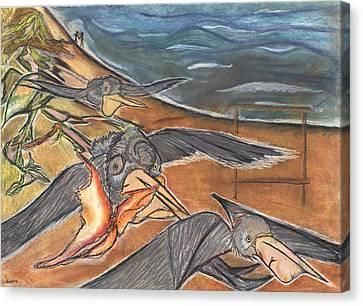 Fly By Canvas Print by Stu Hanson