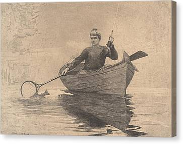 Fly Fishing Canvas Print by  Newwwman