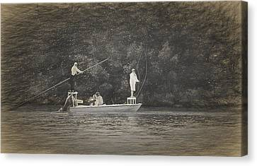 Fly Fishing On Conch Key Canvas Print by Ginger Wakem