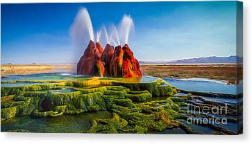 Fly Geyser Panorama Canvas Print by Inge Johnsson