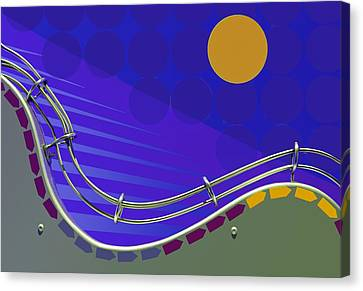 Fly Me To The Moon - Abstract Canvas Print