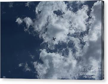 Canvas Print featuring the photograph Fly Me To The Moon by Megan Dirsa-DuBois