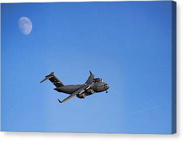 Canvas Print featuring the photograph Fly Me To The Moon by Tammy Espino