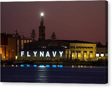 Fly Navy Canvas Print