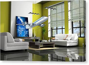 Fly The Friendly Skies Art Canvas Print by Marvin Blaine