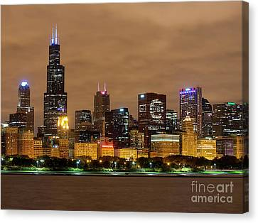 Fly The W - Cubs Canvas Print by Jeff Lewis