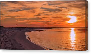Topsail Island Canvas Print - Fly To The Angels by Betsy Knapp