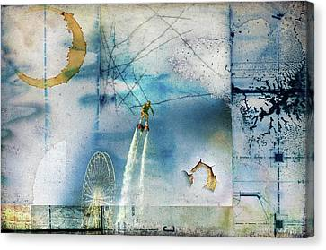 Flyboard - Freestyle Canvas Print