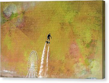 Flyboard, Sketchy And Painterly Canvas Print