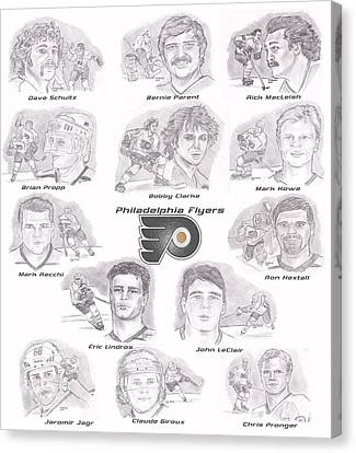Flyer Greats Canvas Print by Chris  DelVecchio
