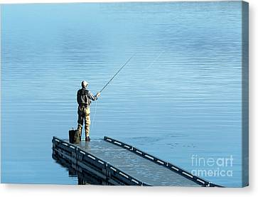 Flyfishing Canvas Print by John Greim